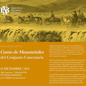 CONJUNTO CUNCUMÉN – CANTO DE MANANTIALES